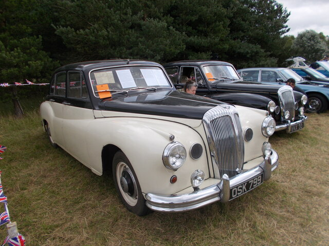 1956 Daimler One-O-Four at the Maxey Classic Car Show - August 2021