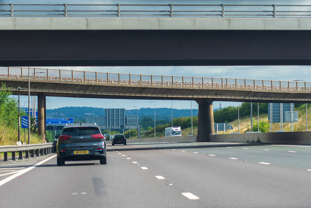 The bridges to Kegworth, from the M1