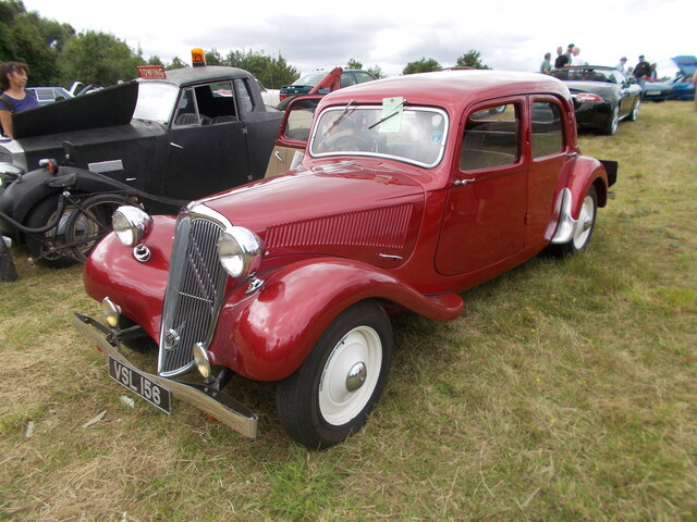 1951 Citroën Light Fifteen at the Maxey Classic Car Show - August 2021