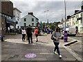 H4572 : Shoppers, Omagh by Kenneth  Allen