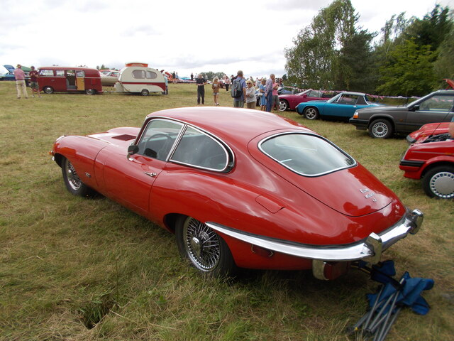 Jaguar E-Type 4.2 at the Maxey Classic Car Show - August 2021