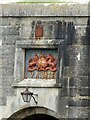 SZ3189 : Hurst Castle - Date plaque above archway, Eastern range by Rob Farrow