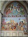 TQ7468 : Fresco in Rochester Cathedral by Philip Halling