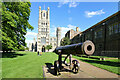 TL5380 : Cathedral and Cannon at Ely by Jeff Buck