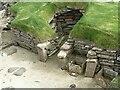 HY2318 : Skara Brae - Dwelling No.5 - Niche by Rob Farrow