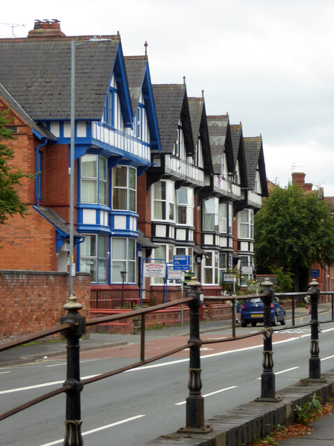 A row of guest houses on Barbourne Road, Worcester