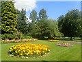 TQ3286 : Flower beds in Clissold Park by Marathon