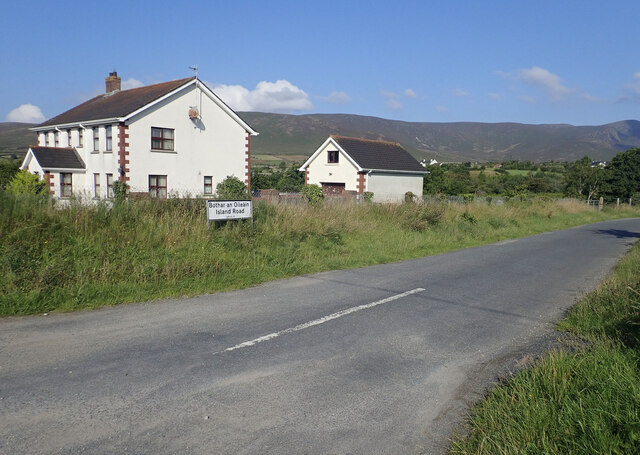 The southern end of Island Road at Attical