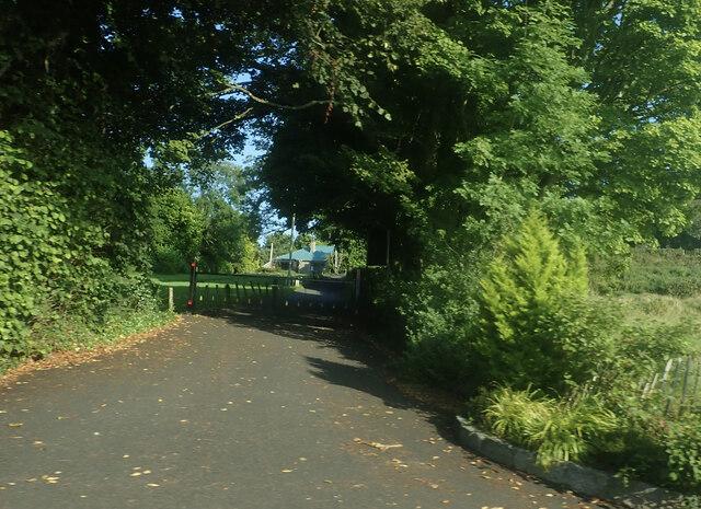 Drive leading up to Kilcoo CoI Parish Church, Bryansford
