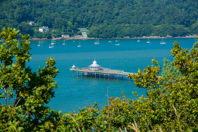 """Bangor Pier, viewed from the """"Roman Camp"""""""