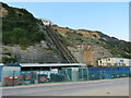 SZ0990 : Cliff lift at East Cliff, Bournemouth by Malc McDonald