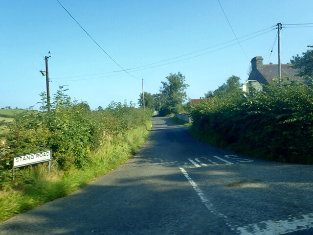 Stang Road at its junction with the B180 (Bryansford Road)