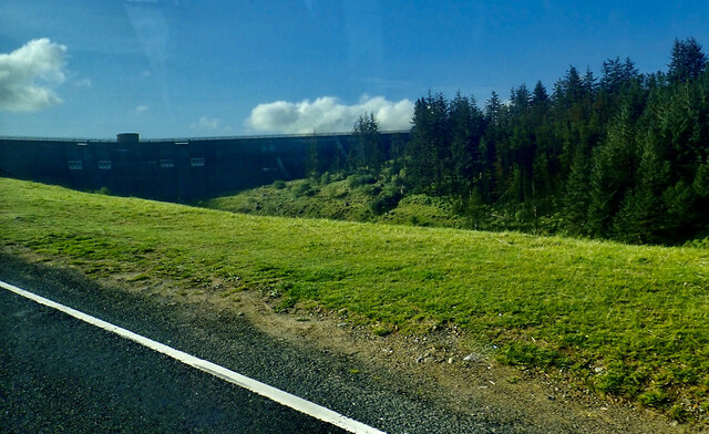 Spelga Dam from the. B27 (Hilltown to Kilkeel) road
