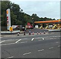 ST3089 : No entry to the Shell filling station, Crindau, Newport by Jaggery