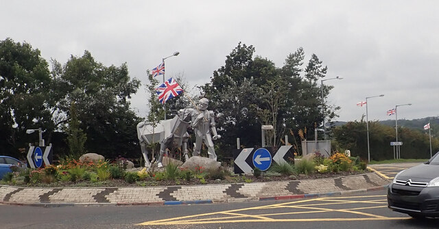 Clough Roundabout during the 2021 Marching Season