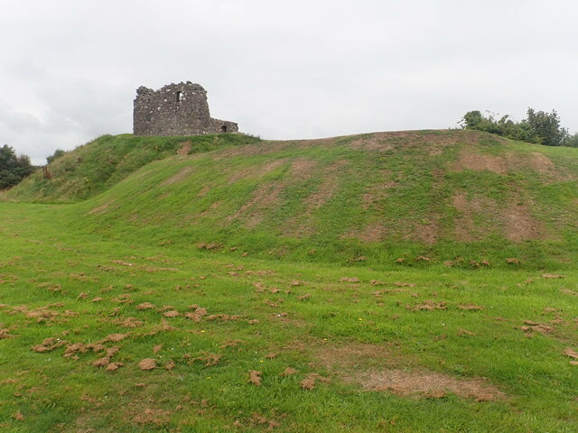 Motte and Bailey castle at Clough, Co Down