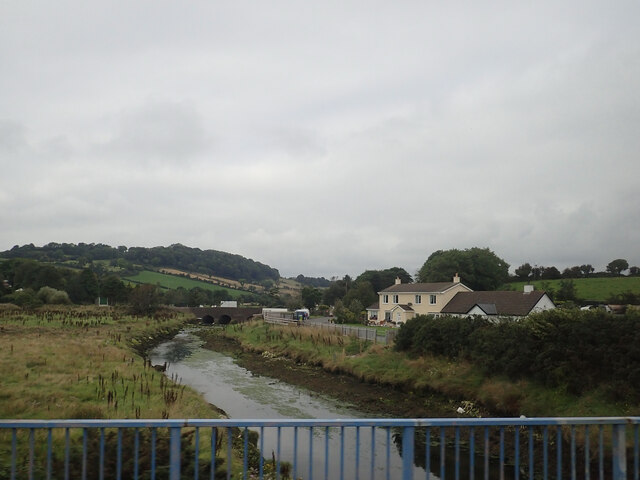 The Moneycarragh River between the By-pass Bridge and the Old Road Bridge