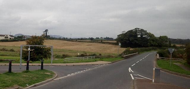 The Old (Belfast) Road at the Twelve Arches Bridge, Slidderyford