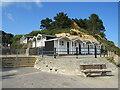 SZ0689 : Beach huts at Branksome Dene Chine, near Bournemouth by Malc McDonald