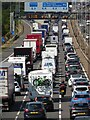 SO9040 : Traffic queuing on the M5 Motorway by Philip Halling
