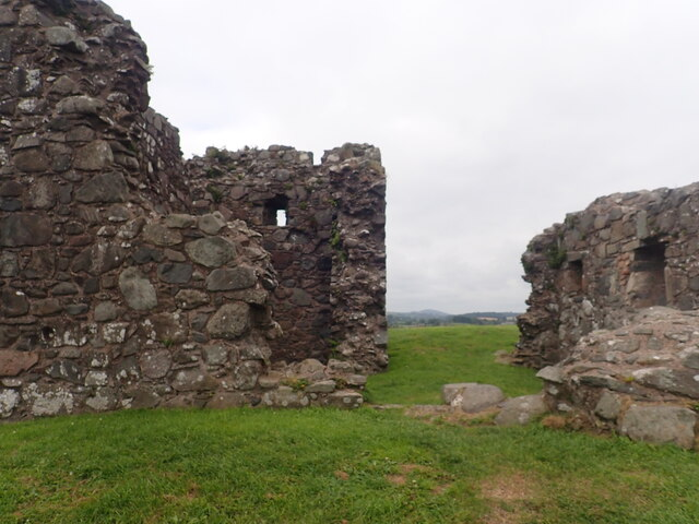 Late medieval stone keep at Clough Castle