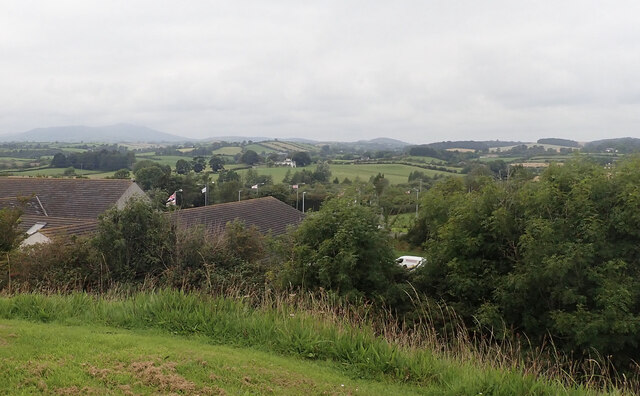 Drumlin landscape between Clough and the Slieve Croob range