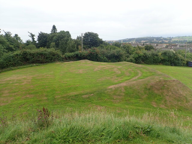 The site of the bailey of Clough Castle
