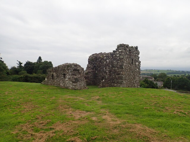 Fifteenth century stone keep at Clough motte and bailey castle