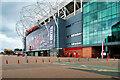 SJ8096 : Sir Matt Busby Way, Old Trafford East Stand by David Dixon