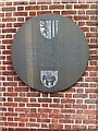 SP3378 : Dresden Place plaque, Greyfriars steeple, Coventry by Alan Paxton