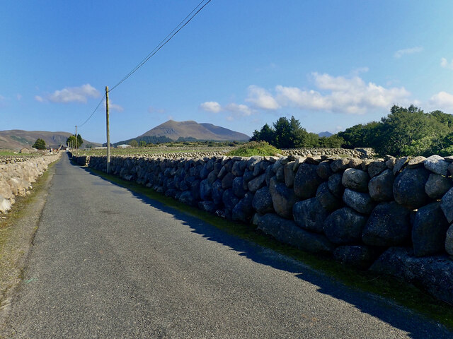 View NNW along Island Road