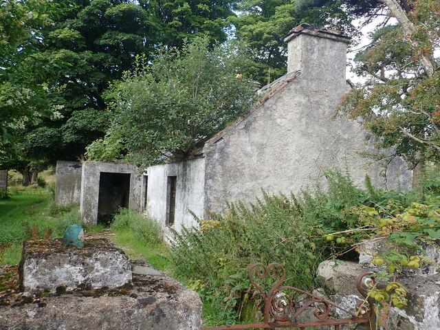 Derelict cottage on the edge of the Crocknafeola Wood