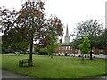 TG2309 : Norwich - Great Hospital - Garden court by Rob Farrow