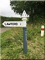 ST1336 : Somerset County Council fingerpost, A358-Stickle Hill junction by Marika Reinholds
