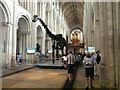 TG2308 : Dippy on Tour, Norwich Cathedral by Keith Edkins