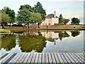 NS1960 : Aubery Park Boating Pond - Largs by Raibeart MacAoidh