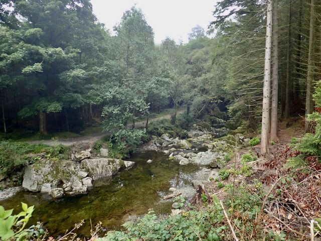 The Shimna below Parnell's Bridge at Tollymore Park