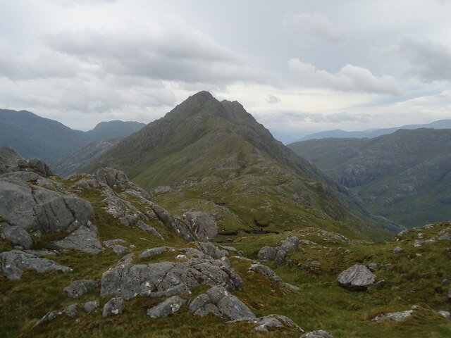 Looking east from the summit of Sgurr nam Meirleach