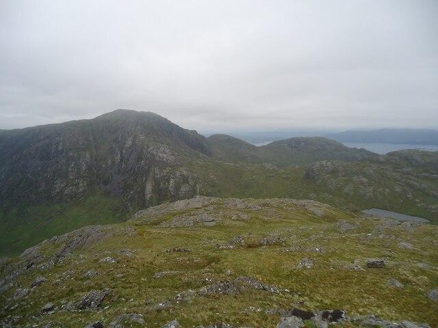 The summit area of Mullach Li, Knoydart