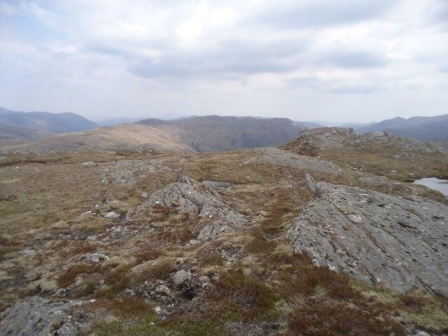 Summit region of Carn an Alltain Riabhaich
