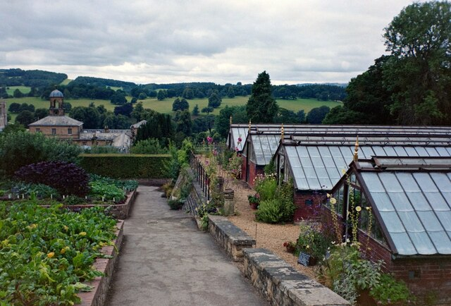 Greenhouses in the Kitchen Garden, Chatsworth House