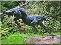 NG9239 : Cheetah sculpture, Attadale Gardens by Jim Barton