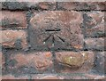 NY4153 : Benchmark, Lady Gillford's House garden wall by Adrian Taylor