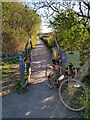 ST4160 : A Frame Barrier on Strawberry Line NCN26 near Sandford by Kevin Pearson
