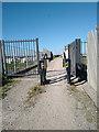 ST3056 : A Frame Barrier on NCN33 Brean Down Way Path near Brean by Kevin Pearson
