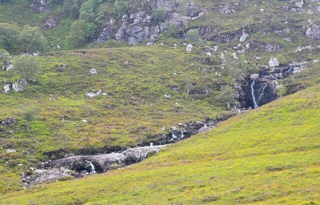 Waterfalls in Coire Chaorachain by Jim Barton