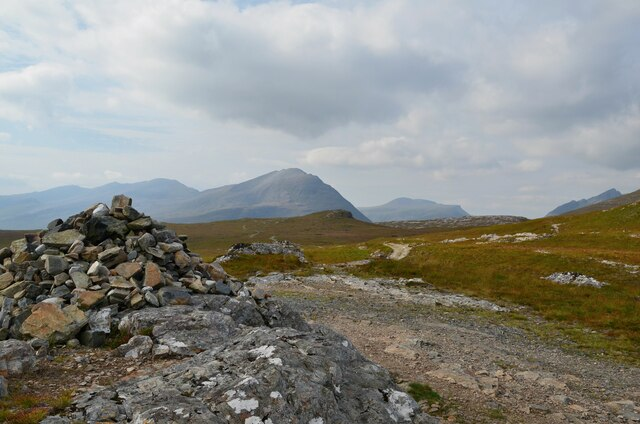 Cairn at the highest point by Jim Barton