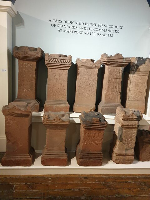 Selection of Roman altars by Oliver Dixon