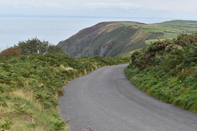 Coast road below Trentishoe Down