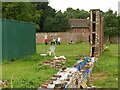 SK5339 : Central wall, the old kitchen garden, Wollaton Hall by Alan Murray-Rust